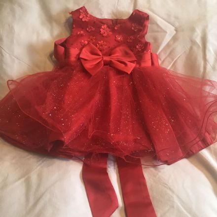 0-6 Month Red Tulle Party Dress